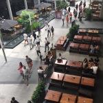 sidewalk between two malls